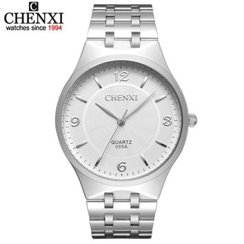 CHENXI Brand Men Quartz Lovers' Watch Stainless steel Casual Business Watches Analog Women Wristwatches male & Womens watches