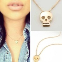 Dainty Skullie Love Necklace from P.S. I Love You More Boutique