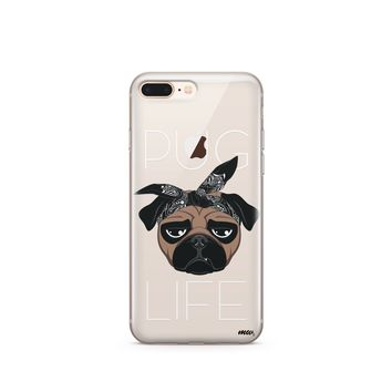 CLEARANCE iPhone 7 / 7 Plus Clear Case Cover - Pug Life