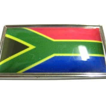 Thin Bordered South Africa Flag Magnet