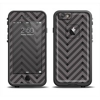 The Gray & Black Sketch Chevron Apple iPhone 6 LifeProof Fre Case Skin Set
