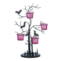 Eerie Bat Candle Holder Halloween Decor