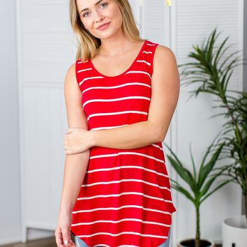 Can't Stop Striped Tank- Multiple Options