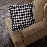Annie Black Buffalo Check Pillow
