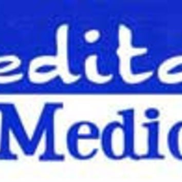Meditation Not Medication bumper sticker