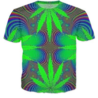 Trippy weed shirt