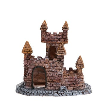 Best aquatic fish products on wanelo for Fish tank castle decorations
