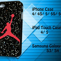 Nike Air Jordan Logo Samsung Galaxy S3/ S4 case, iPhone 4/4S / 5/ 5s/ 5c case, iPod Touch 4 / 5 case
