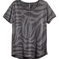 H&M - T-shirt with Burnout Pattern