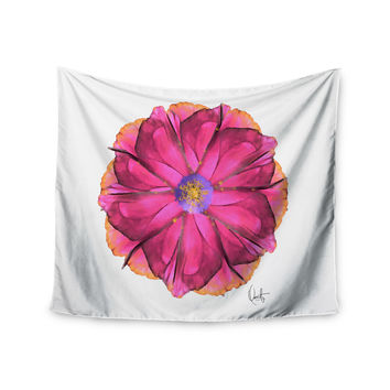 """Oriana Cordero  """"Athena-Flower"""" Pink Lavender Wall Tapestry"""