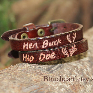 Engraved Couples Bracelet,Personalized Leather Bracelets, Matching Bracelets, His & Hers Bracelets, Custom Couple Gift for Him Her