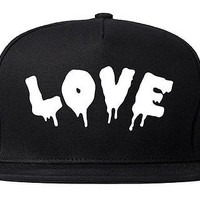 Kings Of NY Love Goth Blood Font Hate Snapback Hat Cap