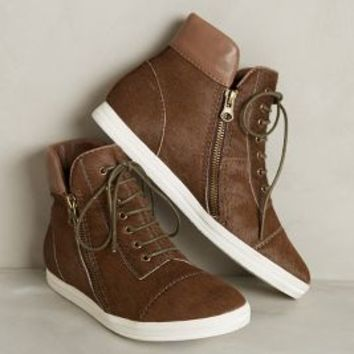 Ladera Calf Hair High-Tops by All Black