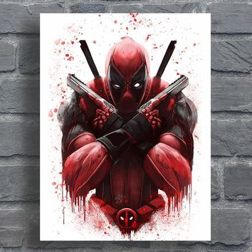 Deadpool Dead pool Taco  Poster Abstract Movie Canvas Artwork Digital Prints Home Decor Wall Painting No Frame AT_70_6