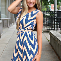 Chevron on the Dockside Dress