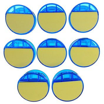 Blue Plastic Magnetic Round Clips With Sticky Notes Lot 8 Write Notes Hang File
