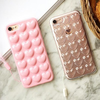 Best Protection Heart-shaped iPhone 7 7 Plus & iPhone 6 6s Plus & iPhone 5s se Case Personal Tailor Cover + Gift Box