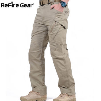 IX9 City Tactical Cargo Pants Men Combat SWAT Army Military Pants Cotton Pockets Stretch Paintball Militar Casual Trousers XXXL