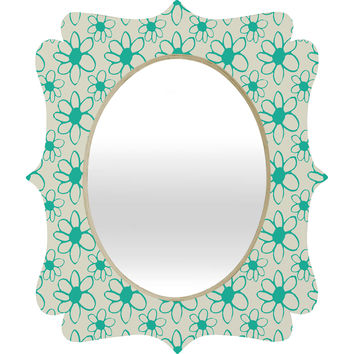 Allyson Johnson Mod Flowers Quatrefoil Mirror
