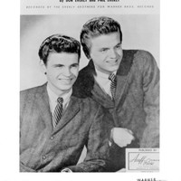 The Everly Brothers Publicity Photo 8 by 10 inches