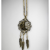 Steam Punk Dreamcatcher Necklace