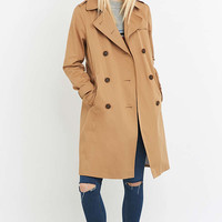 Urban Outfitters Classic Taupe Trench Coat - Urban Outfitters