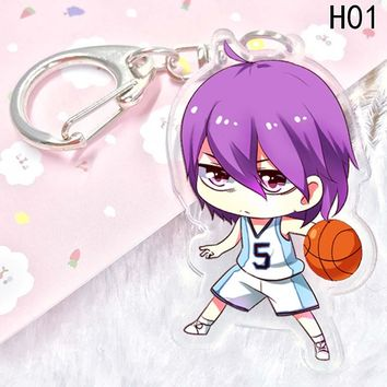 Kuroko no Basket acrylic Keychain Pendant Car Key  Accessories Cute Japanese Cartoon Kuroko's Basketball