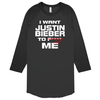 I Want Justin Bieber To Love Me Baseball T-shirt