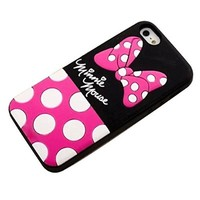 JBG Cute Disney Cartoon Shadow Soft Silicone Back Case Cover for iPhone 5 / 5S Minnie Mouse