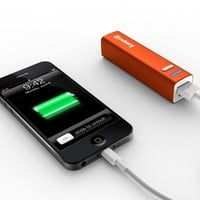Jackery Mini 2600mAh (Orange) Ultra-Compact Lipstick Size External Battery Pack Charger