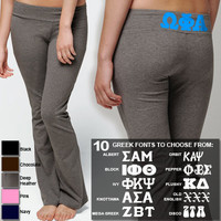 Bella Sorority Yoga/Fitness Printed Pants | Sorority clothing and apparel from SomethingGreek.com