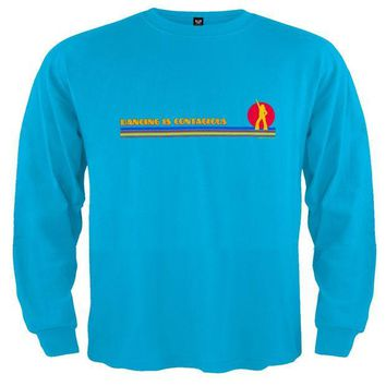 ESBGQ9 Little Hippie - Dancing Is Contagious Blue Toddler Long Sleeve T-Shirt