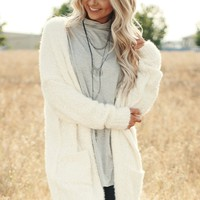 Beautiful Chaos Knitted Cardigan (Ivory)