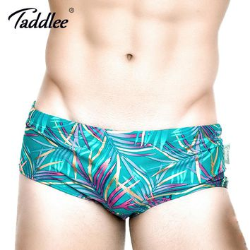 Taddlee Brand Sexy Men's Swimwear Swimsuits Swim Boxer Briefs Bikini Swimming Surf Board Trunks Low Waist Bathing Suits XXL Size