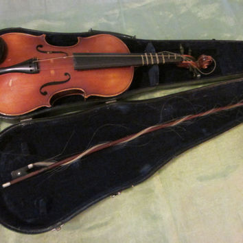 Anton Becker Germany Mahogany Violin Copie Antonius Stradivarius Scripted