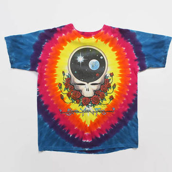 Vintage 90s GRATEFUL DEAD T-SHIRT / 1990s Space Your Face Tie-Dye 92 Tour Tee Shirt L