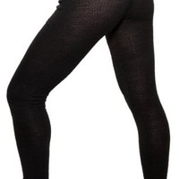 Sexy, Chic & Warm Stretch Knit Gym Tights by KD dance NYC Made In USA