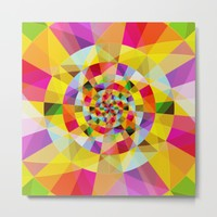 Colorful Abstract Swirly Tune Design (Fancy Fresh And Modern Hippy Style) Metal Print by Jeanette Rietz