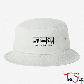 eat sleep kite bucket hat