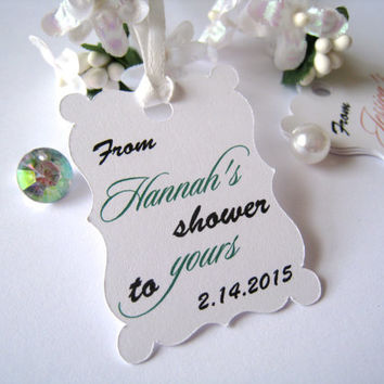 Shower favor tags, bridal shower tags, baby shower tags, thank you tags, soap favor tags, gift tags - 30 count