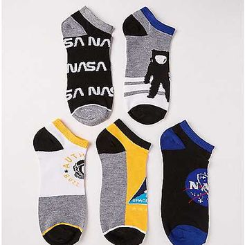 NASA No Show Socks - 5 Pair - Spencer's