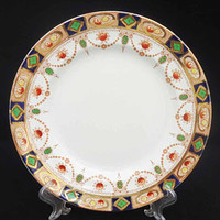Vintage/Antique Imari Pattern J.M. & Co Devon Large Dinner Plates, J.M. and Co Bone China Large Dinner Plates