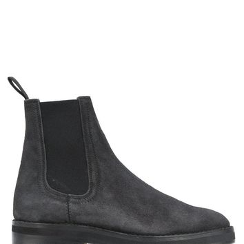 Yeezy Mens Black Shaggy Suede Season 6 Chelsea Boots