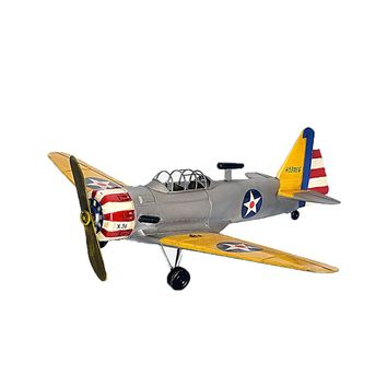 Large Scale Full-Iron Handmade Model Plane - Military US 1930s T-6 Texan - 🎖️🇺🇸🦅✈️💣