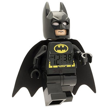 LEGO Kids' 9005718 DC Super Heroes Batman Mini-Figure Alarm Clock