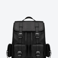 Saint Laurent Rock Backpack In Black Leather | ysl.com