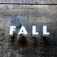 Ceramic Push Pin Letters - 1940s - FALL