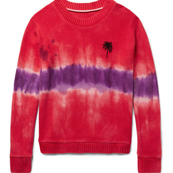 The Elder Statesman - Tie-Dyed Palm Tree-Intarsia Cashmere Sweater