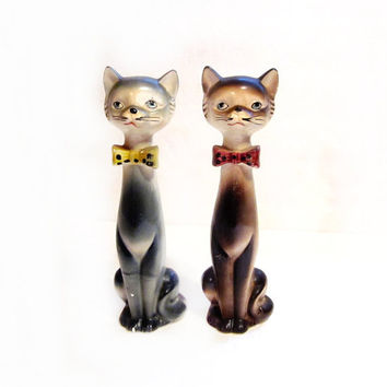 Porcelain Cat Figurines by Japan, Vintage 1960s