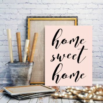 "Motivational Quote Poster ""Home Sweet Home"" Home Office Dorm Decor"